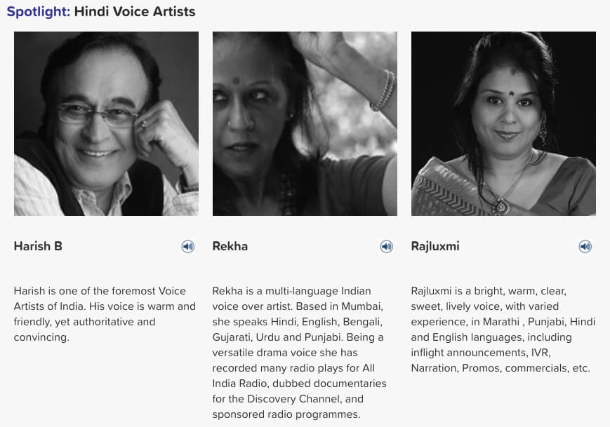 Hindi voice artists