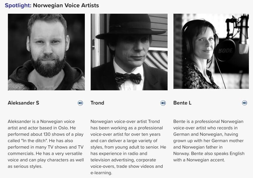 Norwegian voice artists