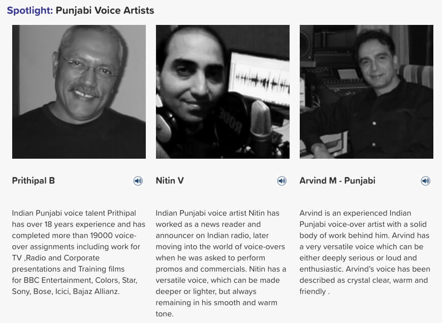 Punjabi voice artists