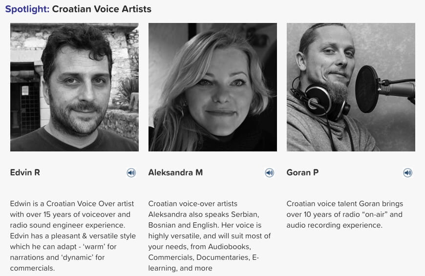 croatian voice artists