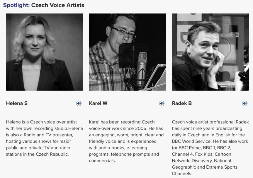 czech voice artists