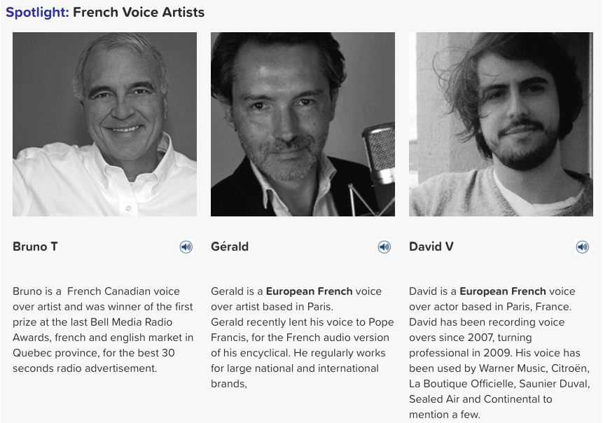 french voice artists
