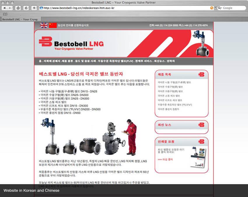 Korean website
